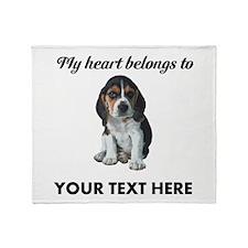 Personalized Beagle Custom Throw Blanket