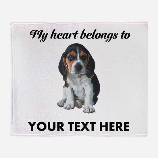 Personalized Beagle Custom Throw Blanket