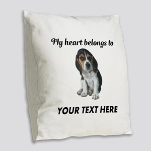 Personalized Beagle Custom Burlap Throw Pillow
