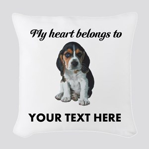 Personalized Beagle Custom Woven Throw Pillow
