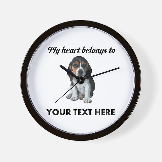 Personalized Beagle Custom Wall Clock
