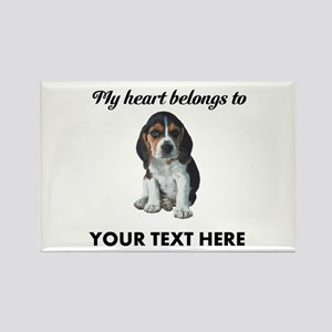 Personalized Beagle Custom Rectangle Magnet