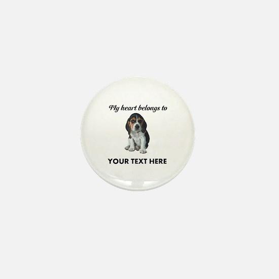 Personalized Beagle Custom Mini Button