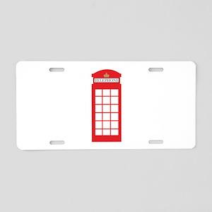 Telephone Box Aluminum License Plate
