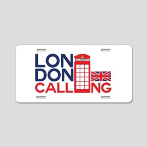 London Calling Aluminum License Plate