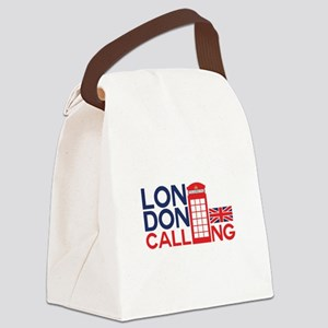 London Calling Canvas Lunch Bag