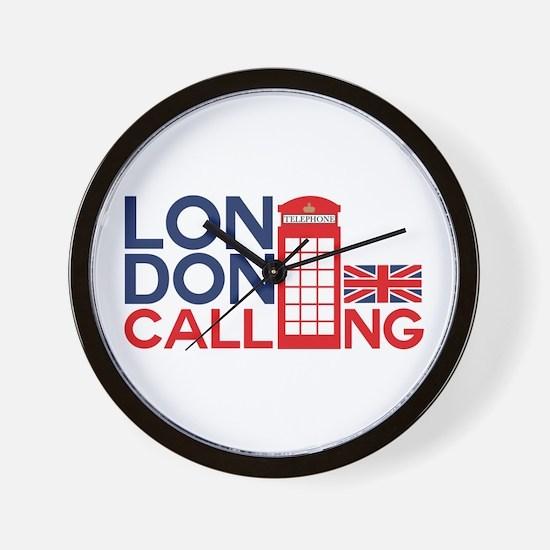 London Calling Wall Clock