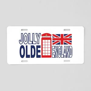 Jolly Olde England Aluminum License Plate
