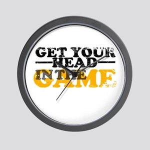 Get Your Head In The Game Wall Clock