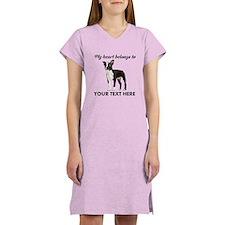 Personalized Boston Terrier Women's Nightshirt