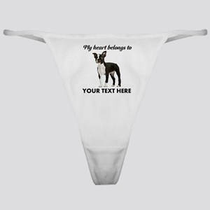 Personalized Boston Terrier Classic Thong