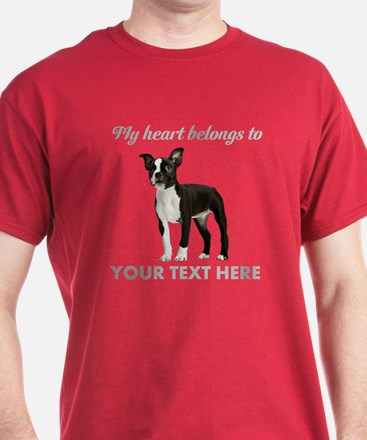 Personalized Boston Terrier T-Shirt