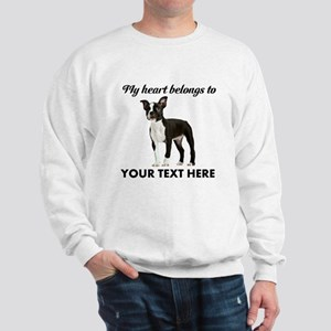 Personalized Boston Terrier Sweatshirt