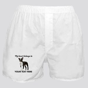 Personalized Boston Terrier Boxer Shorts