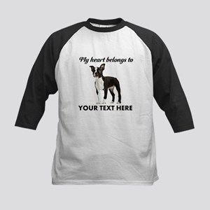 Personalized Boston Terrier Kids Baseball Jersey