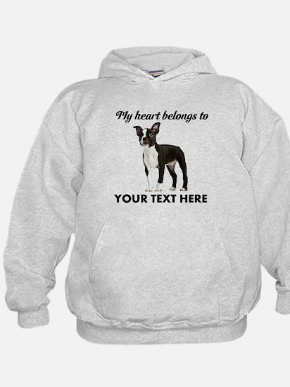 Personalized Boston Terrier Hoody