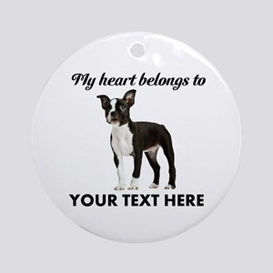 Personalized Boston Terrier Ornament (Round)