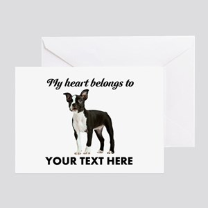 Personalized Boston Terrier Greeting Card