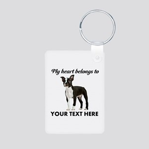 Personalized Boston Terrie Aluminum Photo Keychain