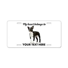 Personalized Boston Terrier Aluminum License Plate