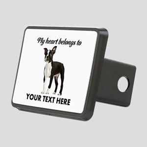 Personalized Boston Terrie Rectangular Hitch Cover