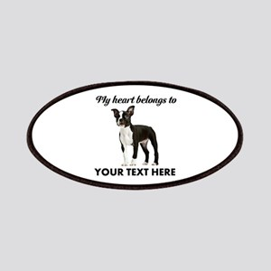 Personalized Boston Terrier Patch