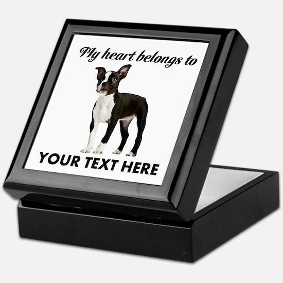 Personalized Boston Terrier Keepsake Box