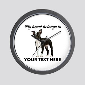 Personalized Boston Terrier Wall Clock