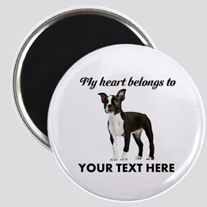 Personalized Boston Terrier Magnet