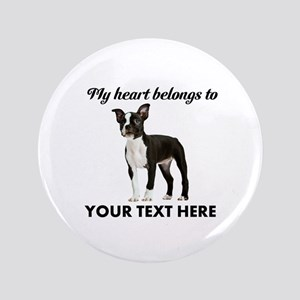 Personalized Boston Terrier Button
