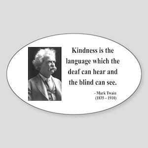 Mark Twain 31 Oval Sticker
