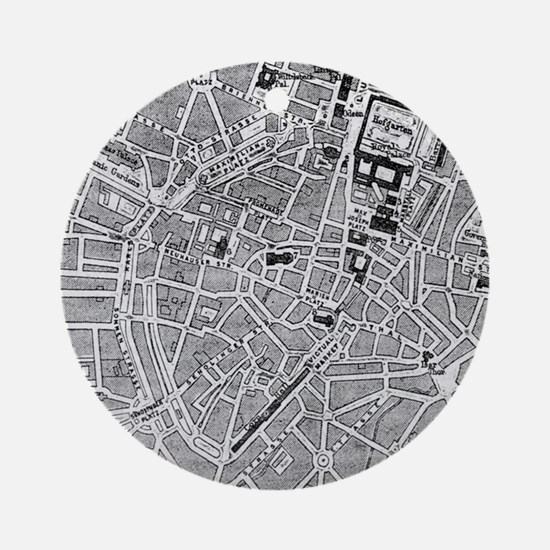 Vintage Map of Munich Germany (18 Ornament (Round)