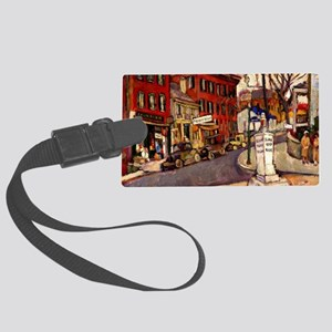 """Manievich vintage painting, """"Pit Large Luggage Tag"""
