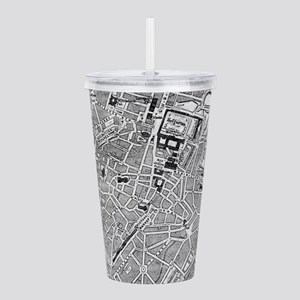 Vintage Map of Munich Acrylic Double-wall Tumbler