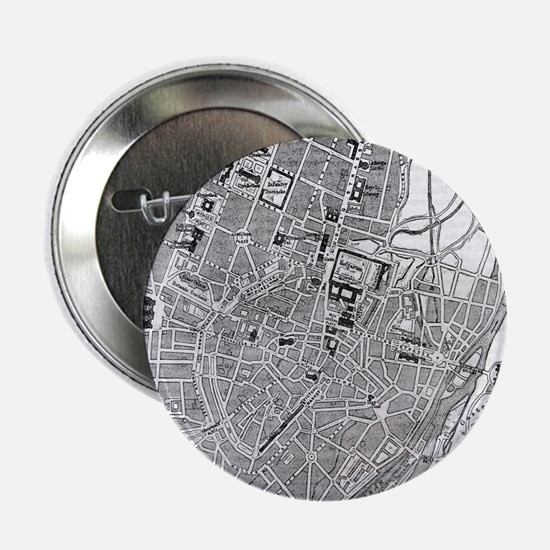 """Vintage Map of Munich Germany (1884) 2.25"""" Button"""