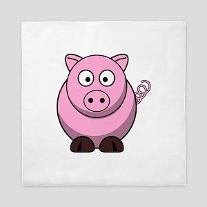 Chubby pink pig Queen Duvet