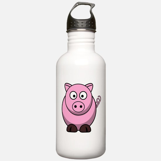 Chubby pink pig Water Bottle
