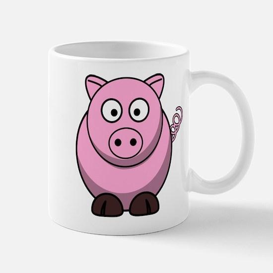 Chubby pink pig Mugs