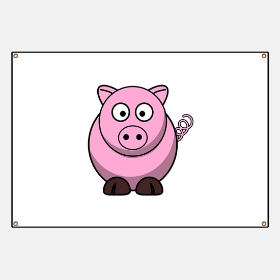 Chubby pink pig Banner