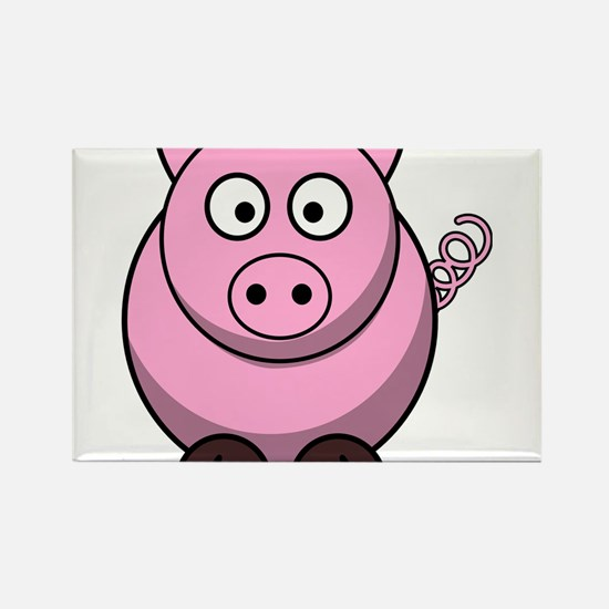 Chubby pink pig Magnets