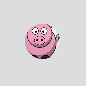 Chubby pink pig Mini Button