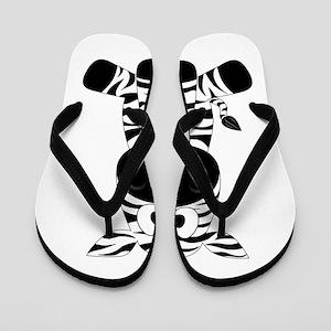 Cute Little Zebra Flip Flops