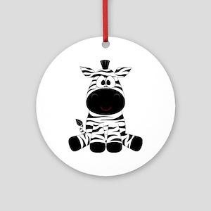 Cute Little Zebra Ornament (Round)