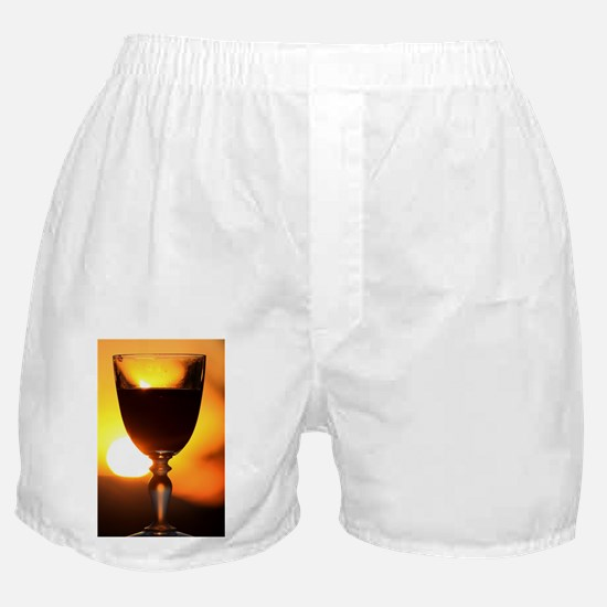 Red Wine and a Sunset Boxer Shorts