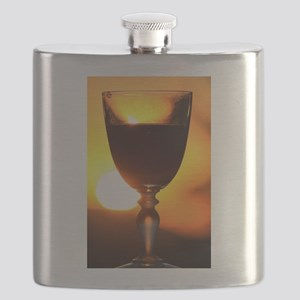 Red Wine and a Sunset Flask