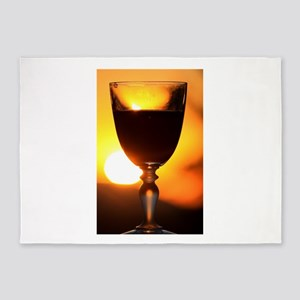 Red Wine and a Sunset 5'x7'Area Rug