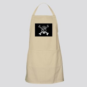 Black, gray and white skull and crossbones Apron