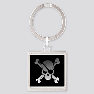 Black, gray and white skull and crossbon Keychains