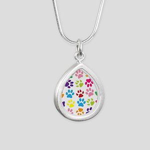 Multiple Rainbow Paw Print Design Necklaces