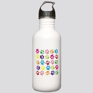 Multiple Rainbow Paw P Stainless Water Bottle 1.0L